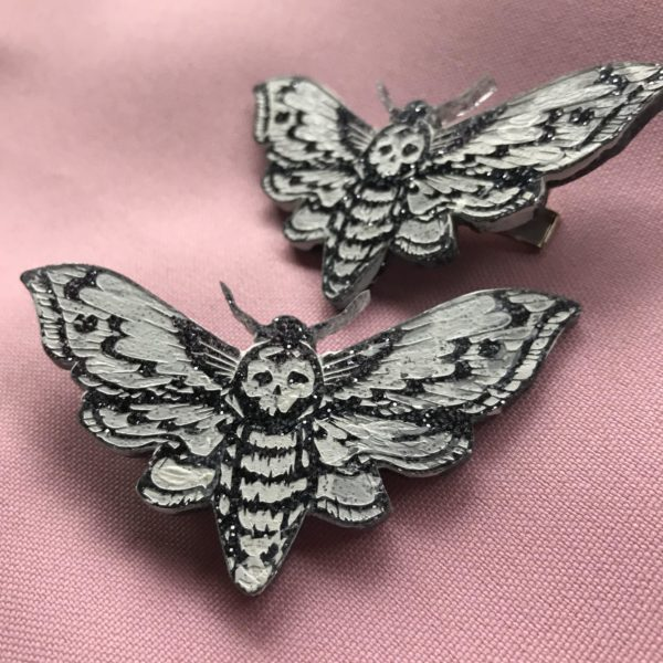Death Moth Hair Clips