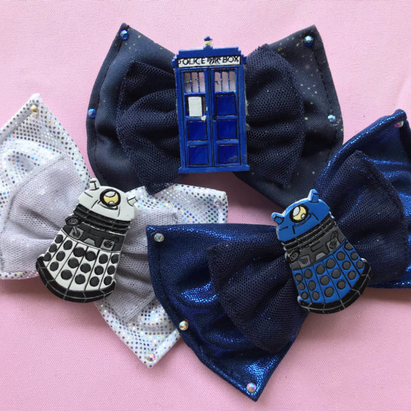 Dr Who Hair Bows