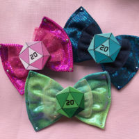D20 Dice Hair Bow