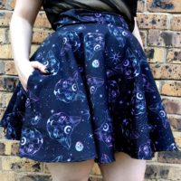 Mystic Kitty Skater Skirt