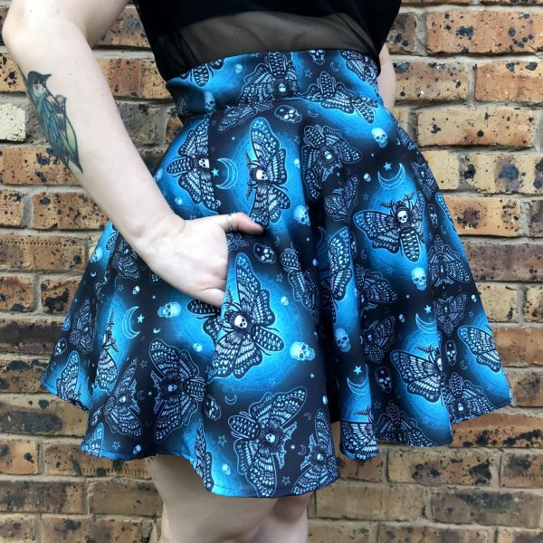 Death Moth Skater Skirt