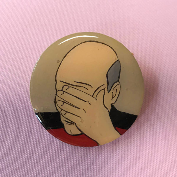 Captain Picard Facepalm Brooch