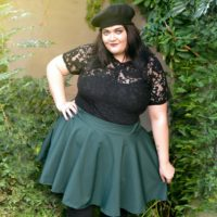Solid Colour Skirt - Forest Green