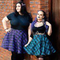 Batty Plaid Skirt